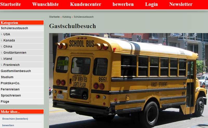 WELTBÜRGER Stipendien • Auslandsjahr • Stifter • Screenshot • ehighschool