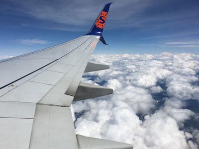 Foto vom Heimflug
