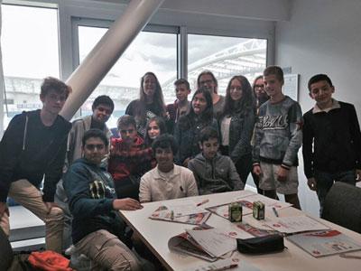 Klasse von Sprachschülern in Brighton